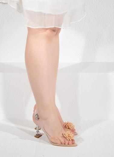 Nemesis Shoes Nemesis Shoes Şeffaf Kadın Topuklu Sandalet Bej